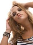 有吸引力的异常的女孩发型 库存照片