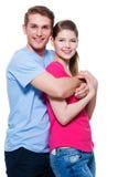 有吸引力的微笑的夫妇画象  免版税图库摄影