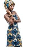 有吸引力的新非洲时装模特儿。 免版税库存图片
