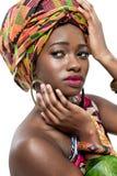 有吸引力的新非洲时装模特儿。 库存图片
