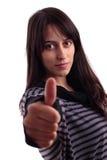 有吸引力的显示的赞许妇女年轻人 库存图片