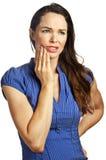有吸引力的牙痛妇女年轻人 免版税库存图片