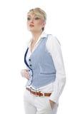 有吸引力的白肤金发的商业 免版税图库摄影