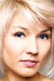 有吸引力的眼眉贯穿的妇女 免版税库存照片