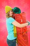 有吸引力的礼品女孩年轻人 免版税库存图片