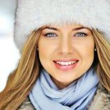 有吸引力的美丽的妇女面孔-特写镜头 图库摄影