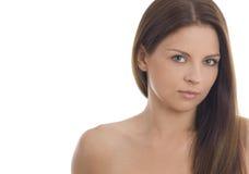 有吸引力的美丽的纵向妇女年轻人 图库摄影