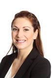 有吸引力的背景深色的女实业家桔子 免版税库存照片