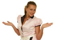 有吸引力的选择笑的妇女年轻人 免版税库存图片
