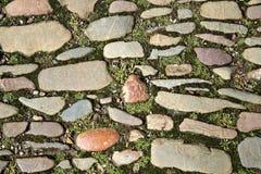 有吸引力的铺有鹅卵石的路 库存图片