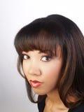 有吸引力的黑色纵向妇女年轻人 免版税库存照片