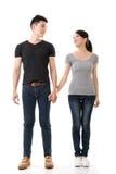 有吸引力的年轻亚洲夫妇 免版税库存图片