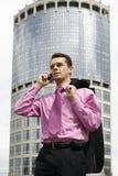 有吸引力的businessman2年轻人 图库摄影