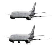 有和没有起落架的二架飞机 库存照片
