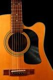 有唱片的声学吉他的采撷卫兵 库存图片