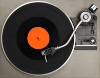 有唱片的电唱机 库存照片