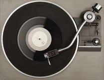 有唱片的电唱机 免版税库存照片