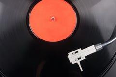 有唱片的葡萄酒电唱机 免版税库存照片