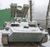 有四个导弹9M37防空导弹的9A35作战车 免版税库存图片