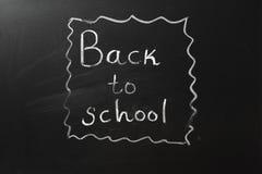 有回到学校文字的黑板 图库摄影