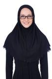 有回教burqa的妇女 免版税库存图片