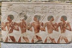 有图片的埃及瓦片从Neues博物馆的汇集 库存照片