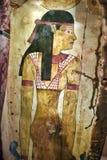 有图片的埃及瓦片从Neues博物馆的汇集 免版税库存图片