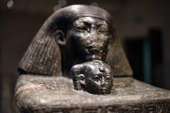 有图片的埃及瓦片从Neues博物馆的汇集 免版税库存照片