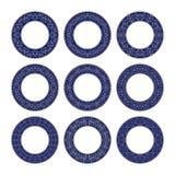 有圆样式的九块装饰板材 免版税库存照片