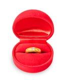 有圆环的箱子,结婚提议被隔绝 免版税库存照片