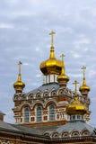 有圆顶的教会 免版税库存图片