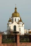 有圆顶的教会 免版税图库摄影