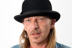有圆顶硬礼帽的人 免版税库存图片