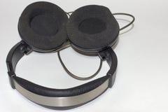 有圆earpads的Circumaural耳机 库存照片