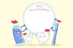 有圣诞快乐的牙 图库摄影