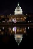 有圣诞树的国会大厦 免版税库存照片