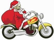 有圣诞老人服装的傻瓜 库存图片