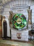 有圣洁Baouardy米丽娅姆, J的玛丽的遗物的圣物箱 免版税库存图片
