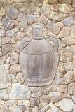 有在它雕刻的水罐的墙壁 图库摄影