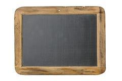 有在白色背景隔绝的木制框架的葡萄酒黑板 免版税库存照片