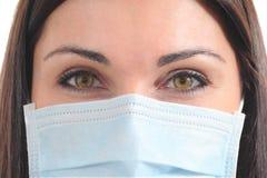 有面具的美丽的外科医生 免版税库存照片