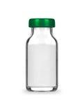 有在白色隔绝的准备的医疗瓶 免版税库存图片
