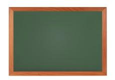 有在白色隔绝的木制框架的黑板黑板 免版税库存图片