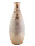 有在白色隔绝的装饰品的花瓶 库存照片