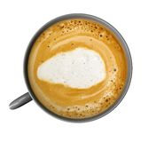 有在白色隔绝的coffe的咖啡杯 库存例证