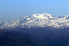 有在黑门山的雪 图库摄影