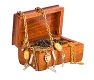 有在whote查出的珠宝的配件箱 库存图片