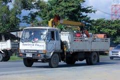 有地下海起重机的卡车将 免版税库存图片