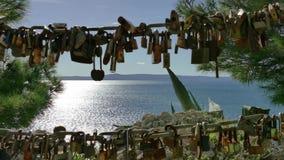 有地中海的爱挂锁在背景中 影视素材