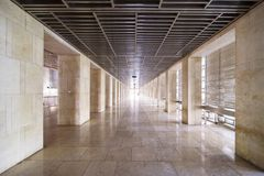 有地板大理石的美丽的Istiqlal清真寺 库存图片